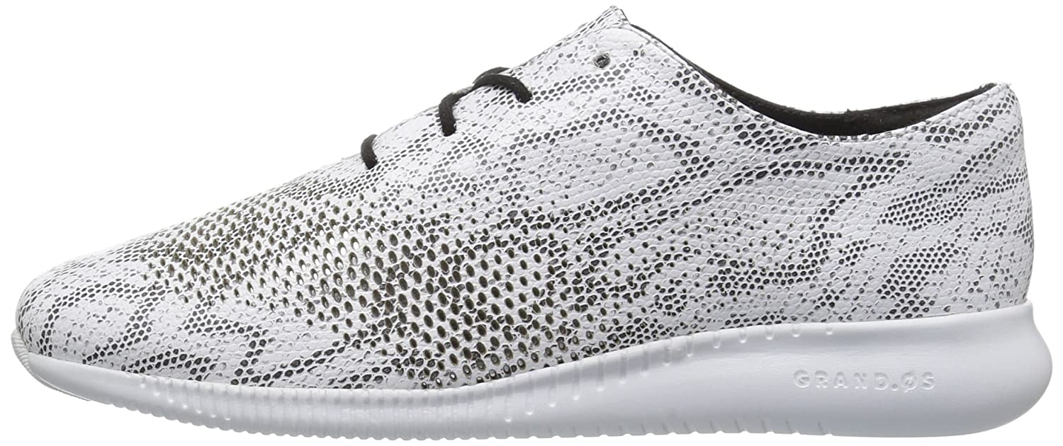 Cole Haan Women's 2.Zerogrand Laser Wing Oxford B01MCTFG1Q 10 C US|Black/White Snake Print