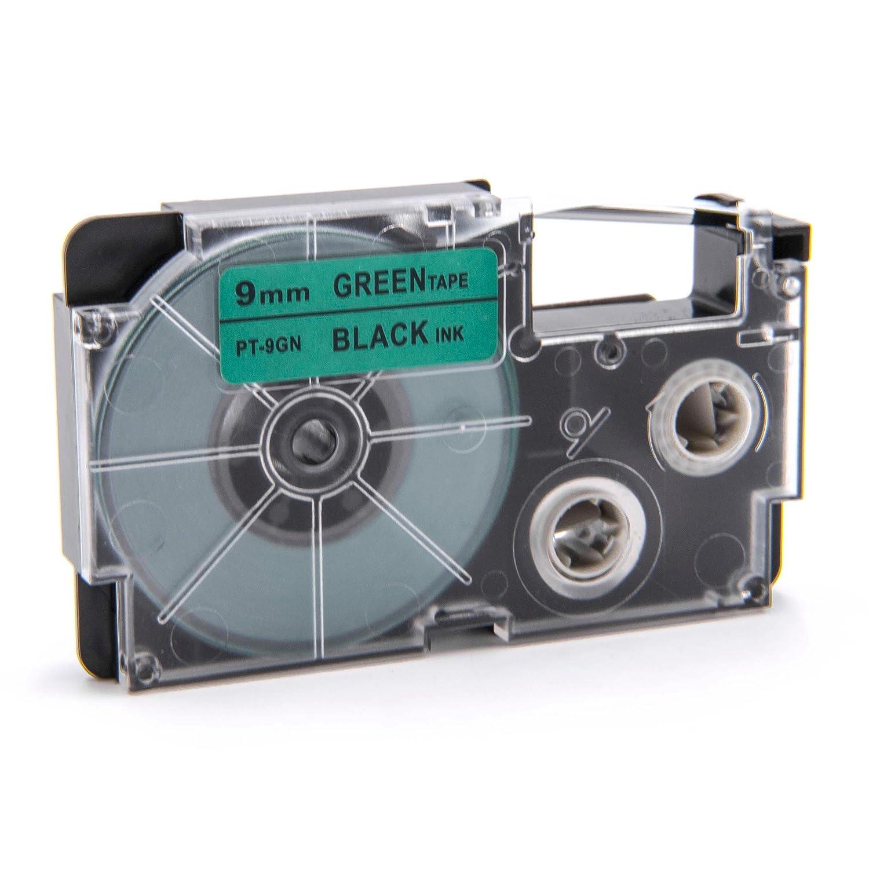 Ruban Cassette Cartouche 9mm vhbw pour Casio KL-130, KL-200, KL-2000, KL-200E, KL-7200, KL-7400, KL-G2, KL-HD1 comme XR-9GN, XR-9GN1. VHBW4251407730984