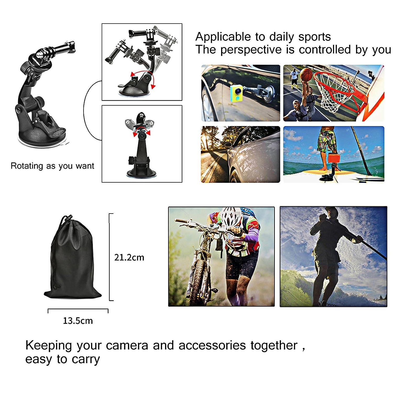 SHOOT Sport Kamera Zubeh/ör Set Lextreme Alle in 1 Zubeh/ör Kit f/ür Gopro Hero 7 6 5 4 3 SJ4000 SJ5000 SJ6000