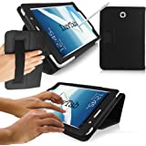 LuvTab® Samsung Galaxy Note 8.0 (8 inch tablet) Multifunctional Multi Angle Wallet Stand Case with 'Sleep Sensor' (BLACK)