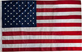 product image for Elizabeth Ross American Flag, Nylon, Perma-NYL, 3' x 5' 100% Made in USA, Sewn Stripes, Embroidered Stars, Heavy-Duty Brass Grommet, Premier US Products from Valley Forge Flag