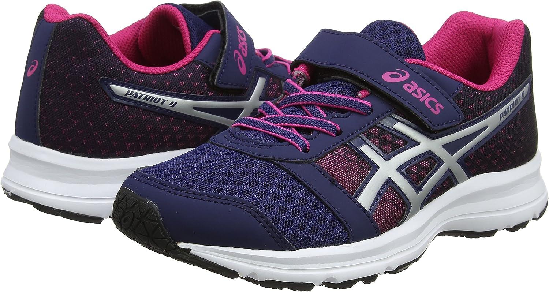 Asics Patriot 9 PS, Zapatillas de Running para Niños, Multicolor (Indigo Bluesilverfuchsia Purple), 27 EU: Amazon.es: Zapatos y complementos