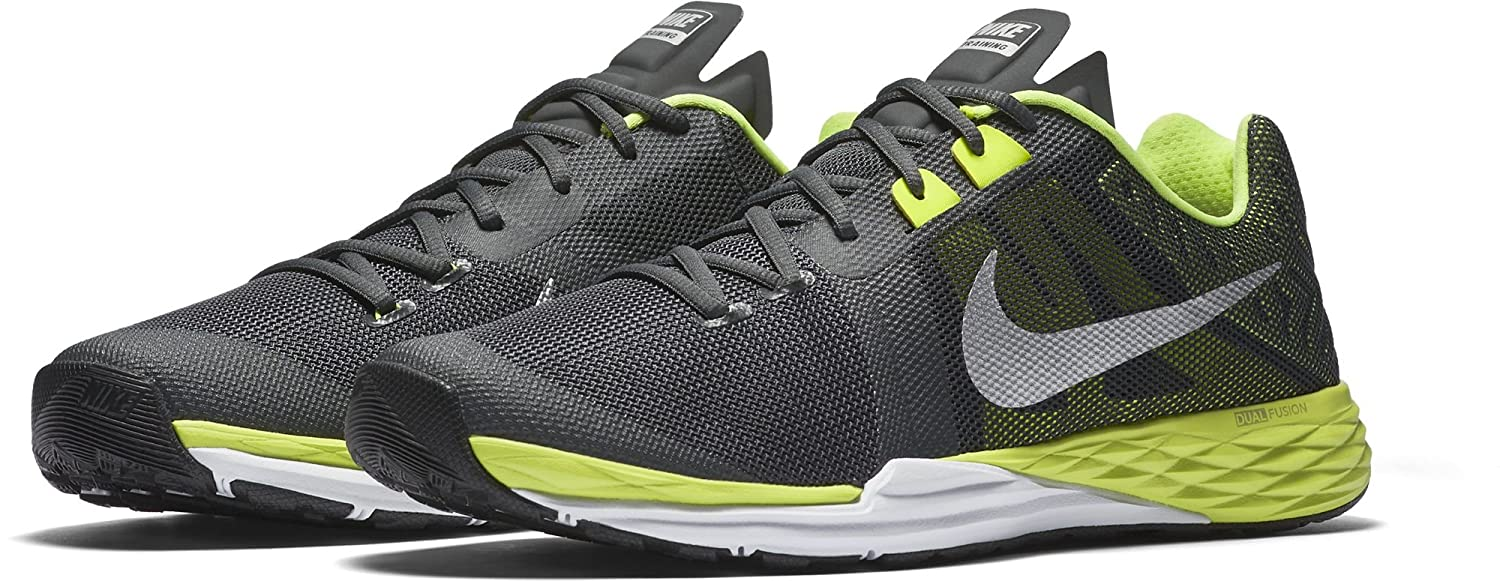 NIKE Men's Train Prime Iron DF Cross Trainer Shoes B01DN58U6O 13 D(M) US|Anthracite/Metallic Silver/Volt/White