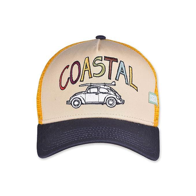 801b826fb588b Coastal Trucker Cap HFT Surf Camp White - One-Size at Amazon Men s Clothing  store