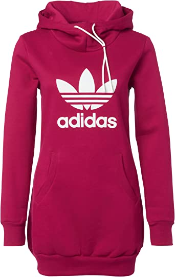 Sweat Long Capuche Rose - Femme - ADIDAS