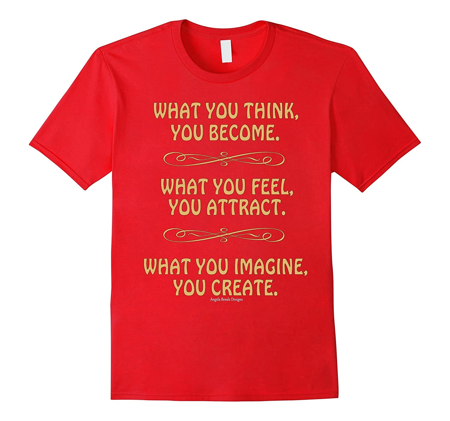 ATTRACT CREATE Motivational Inspirational Quote T-Shirt-TH