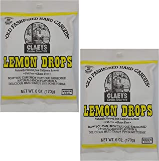 product image for Claeys Old Fashioned Hard Candies Lemon Drops 6 oz Pack of 2