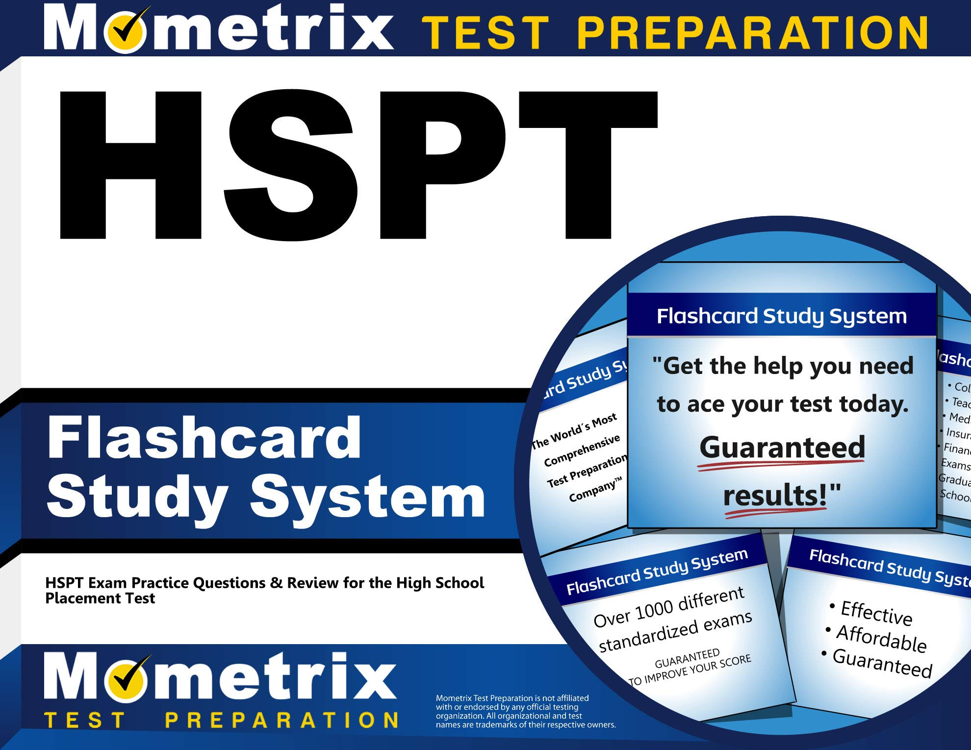 HSPT Flashcard Study System: HSPT Exam Practice Questions & Review for the High School Placement Test (Cards) by Mometrix Media LLC