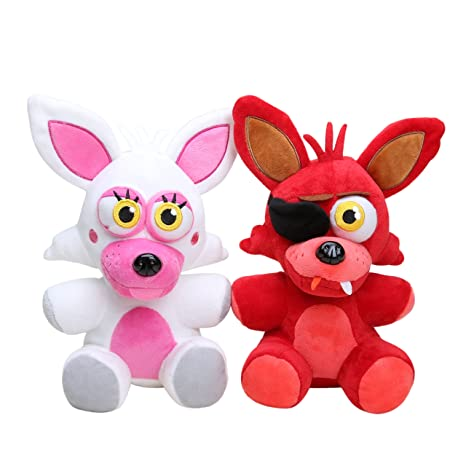 Five Nights at Freddys Mangle Plush & Foxy Plush set of 2, ...