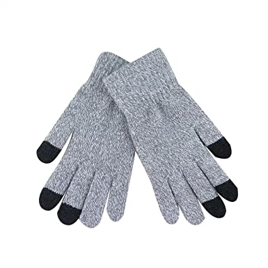 Knitted Wool Winter Women Men Hand Wrist Warmer Fingerless Touch Screen Gloves G
