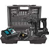 Makita XRH06RBX 18V LXT Lithium-Ion Sub-Compact Brushless Cordless 11/16 Rotary Hammer Kit, accepts SDS-PLUS bits, 65 Pc. Accessory Set (2.0 Ah)