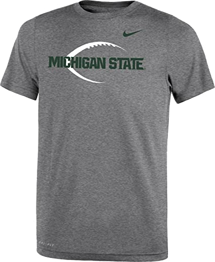 c15071885cde Image Unavailable. Image not available for. Color  NIKE Youth Michigan  State Spartans Grey Football Icon Legend T-Shirt ...