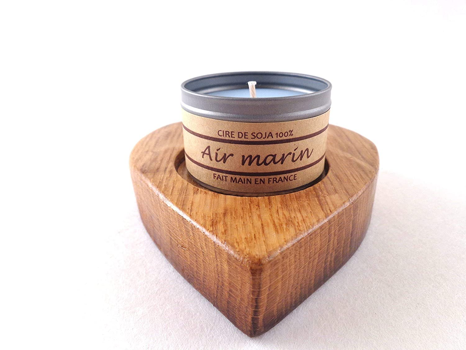 c974c88cf5f1 A stunning gift inspired by the fragrances of Southern France! A beautiful  hand made candle in a handcrafted heart shaped holder