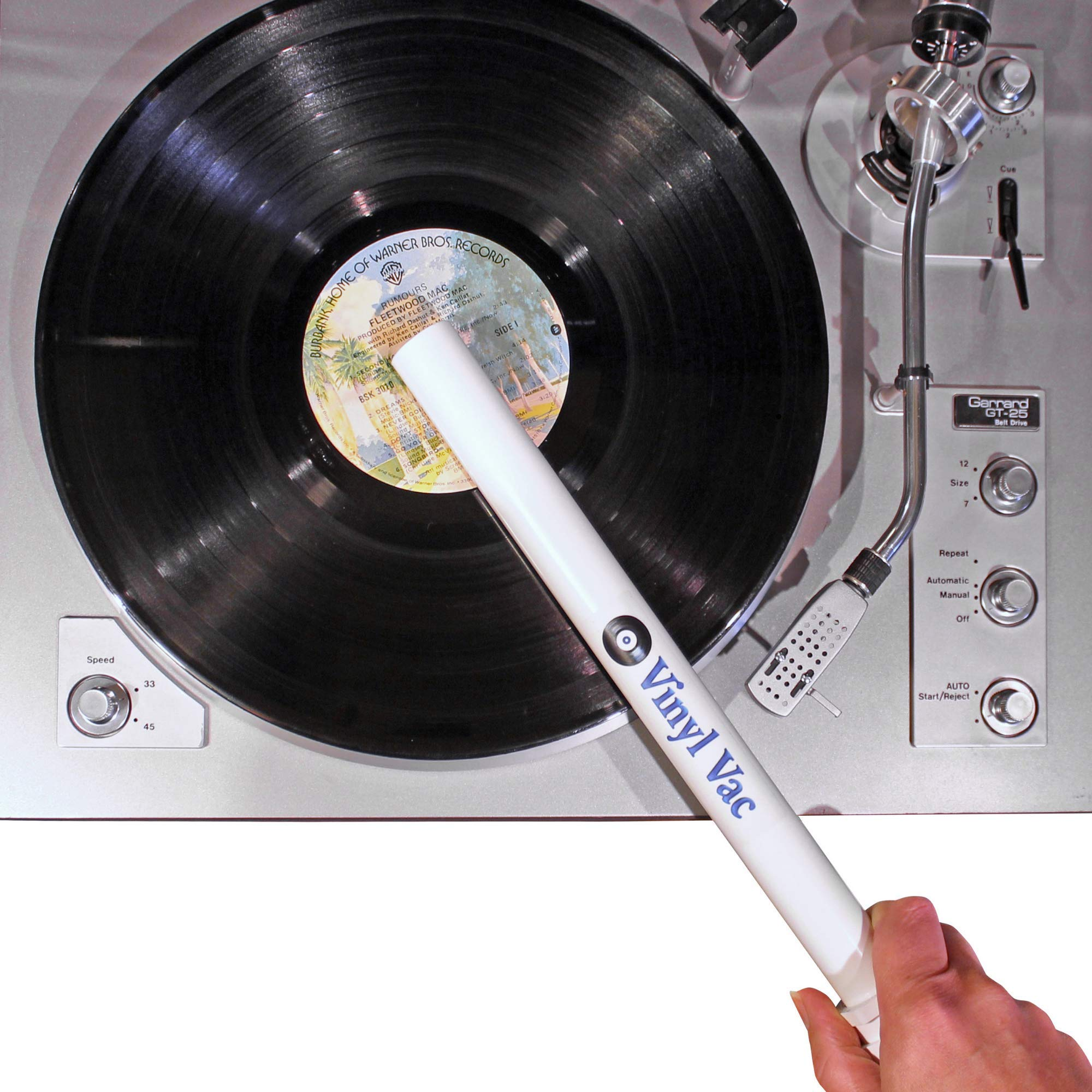 Vinyl Vac 33 - Vinyl Record Cleaning Kit - Record Vacuum Wand for Deep Cleaning (Attaches to Your Vacuum Hose)