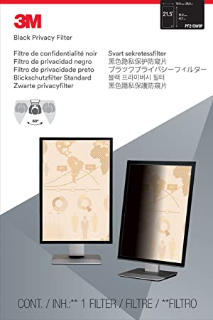 3M Privacy Filter for 21.5 Widescreen Monitor (16: 9 Aspect Ratio) (Color: Black, Tamaño: 21.5)