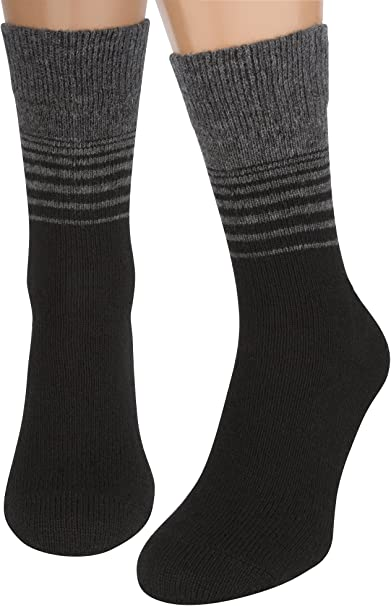 AIR SOCKS Calcetines Negros Mujer y Hombre, 2 Pares Calcetines ...