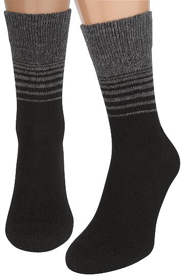 Air Wool Socks Merino Wool Organic Cotton Thermal Heated Yarn Dress Sox 2 Pair