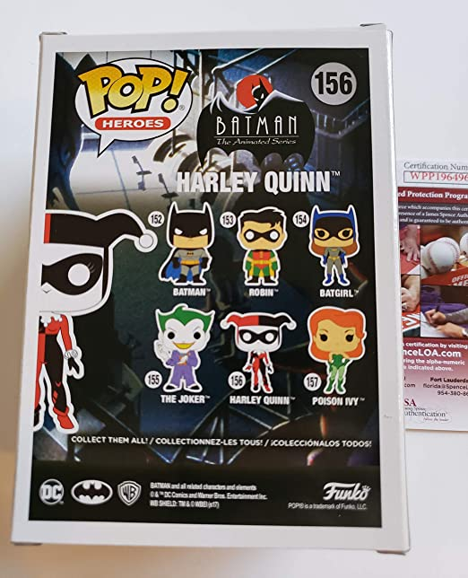 Tara Strong autographed Funko Pop Figure Diamond Collection Batman DC Comics Harley Quinn + Free Pop Protector at Amazons Entertainment Collectibles Store