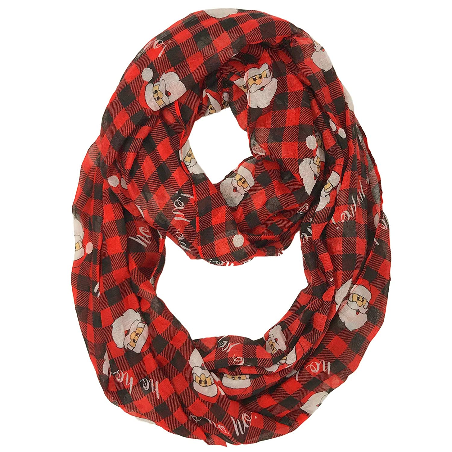 Christmas Holiday Hanukkah Fall Winter Soft Light Loop Infinity Scarf