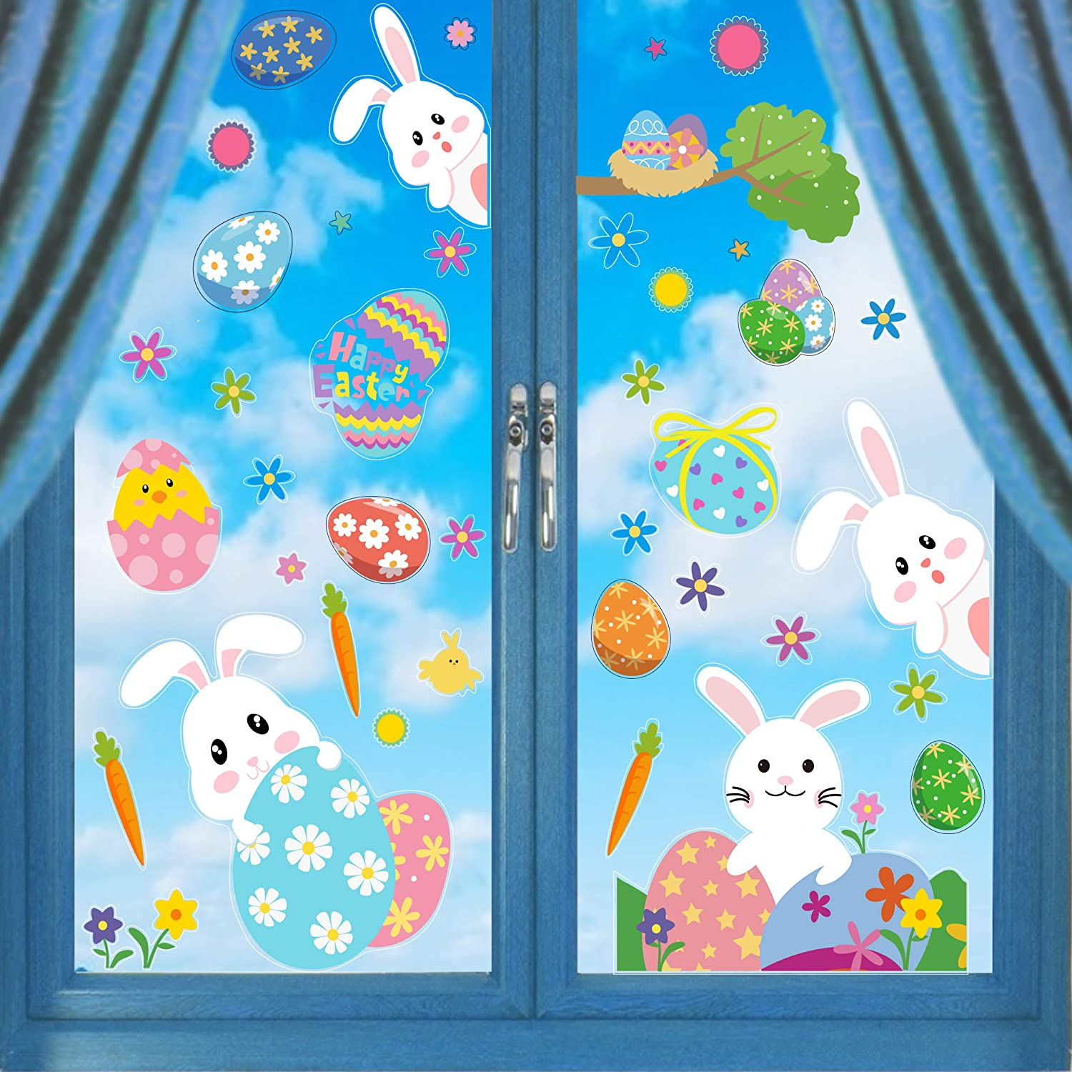 Kitchen Decoration Easter 2019 Easter Decoration Idea Window Decals Carrots Window Stickers Easter Carrot Reusable Window Clings