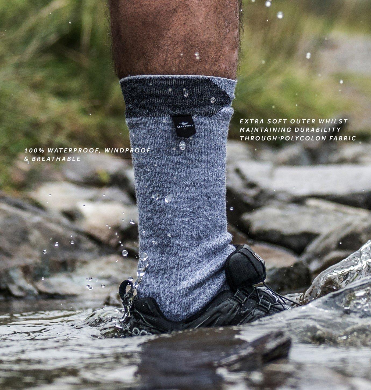Sealskinz Walking Thin Mid Length Calcetines de Senderismo para Hombre: Amazon.es: Deportes y aire libre