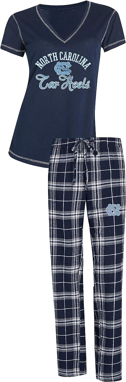 Concepts Sport North Carolina Tarheels UNC Womens Flannel Pajamas Plaid PJ Bottoms