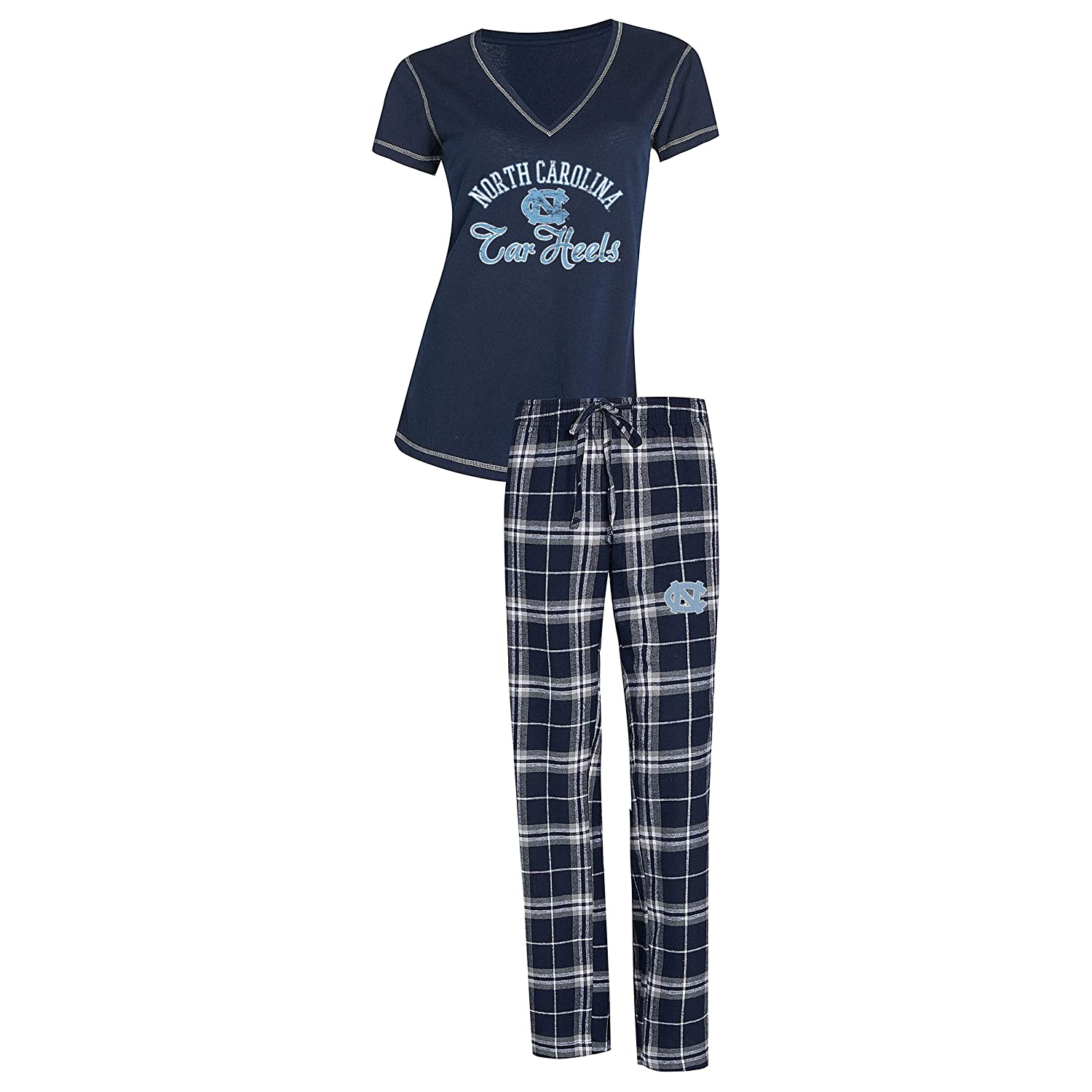 Concepts Sport Womens NCAA Duo Flannel Pajamas and Top Sleep Set