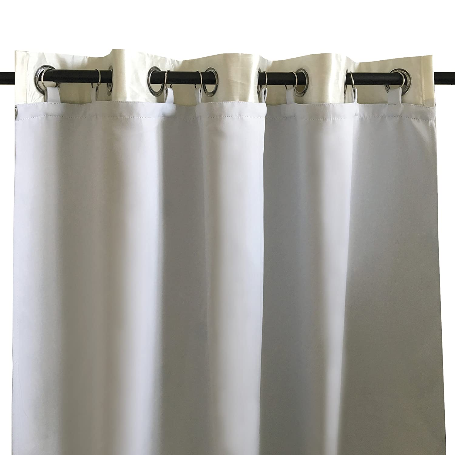 DriftAway Drift Away Thermal Insulated Blackout Curtain Liner for Grommet 63 inch Curtains. Set of 2, Each Liner Size (50x58) Wells International