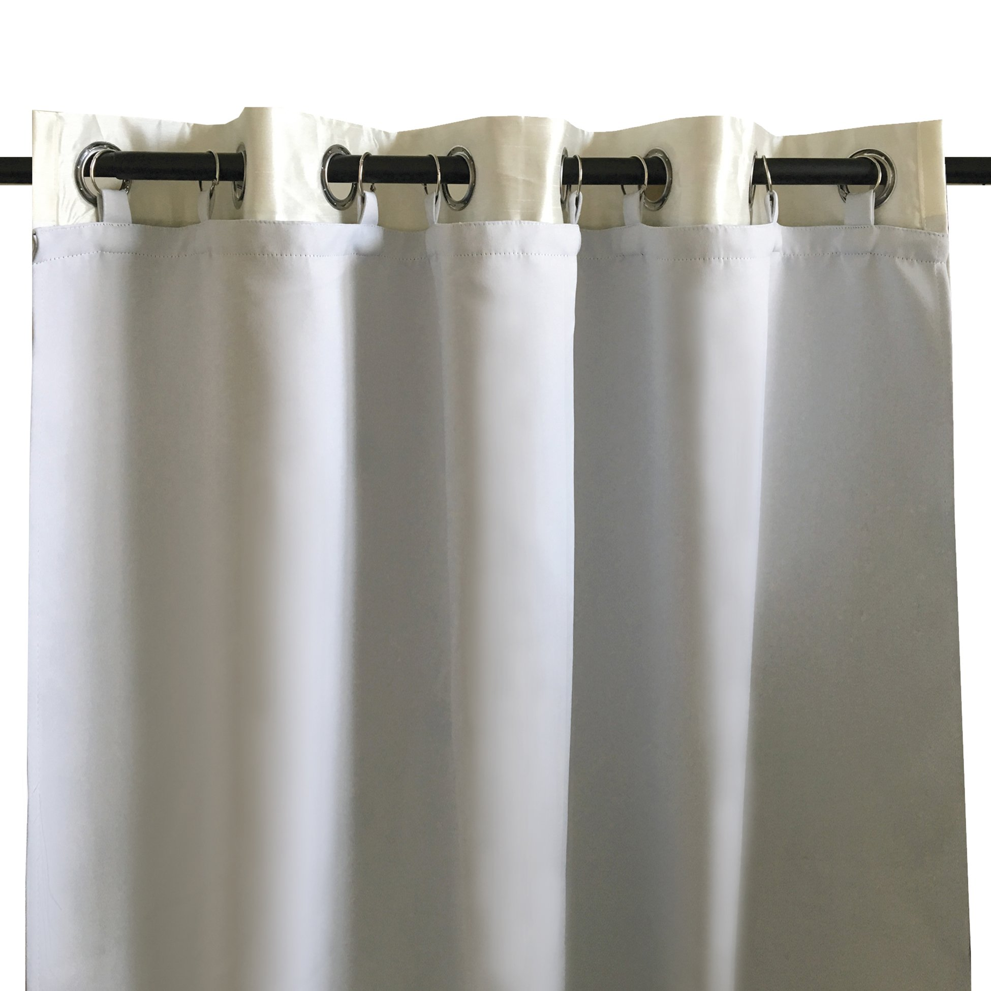 DriftAway Thermal Insulated Blackout Curtain Liner for grommet 84 inch curtains. set of 2, each Liner size (50''x80''), Rings included