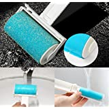 Lint Remover Roller, YUANGAO 2Pack Reusable Sticky Picker Cleaner Set Washable Lint Roller Pet Hair Lint Remover Hand Brush for Clothing and Fabrics
