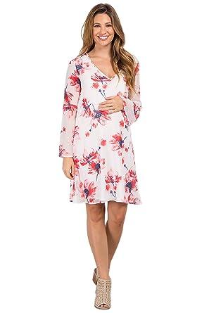 53554b9eb30ae PinkBlush Maternity Floral Chiffon Dress at Amazon Women's Clothing ...