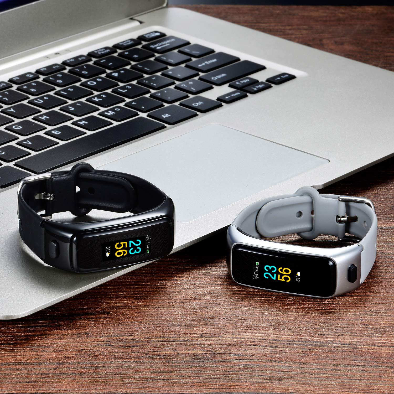 Silver Fitness Track,Wireless Sport Earphone IPX7 Waterproof,Talk Band,Fitness Tracker with Heart Rate Blood Pressure Blood Oxygen for Men odfit Bluetooth Headphone Fitness Bracelet 2 in 1 Women