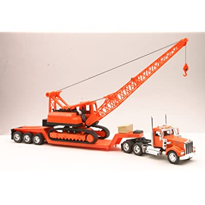 New Ray 11293C 1/32 Kenworth W900 Lowboy w/Crane: New Ray: Toys & Games