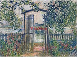 500 Pieces Picture Puzzles The Garden Gate at Vetheuil Fun Puzzle Educational Family Game Toys Gift for Adults Teens