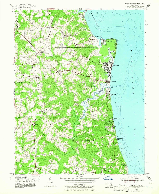 Amazon.com : YellowMaps North Beach MD topo map, 1:24000 ...