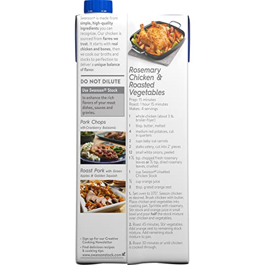 Amazon swanson unsalted cooking stock chicken 32 oz pack of amazon swanson unsalted cooking stock chicken 32 oz pack of 12 packaging may vary grocery gourmet food forumfinder Choice Image