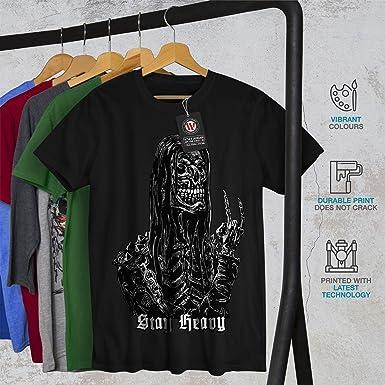 Skull Casual Jumper Wellcoda Heavy Metal Bad Guy Mens Contrast Hoodie