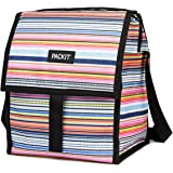 PackIt Freezable Deluxe Large Lunch Bag with Shoulder Strap Blanket Stripe