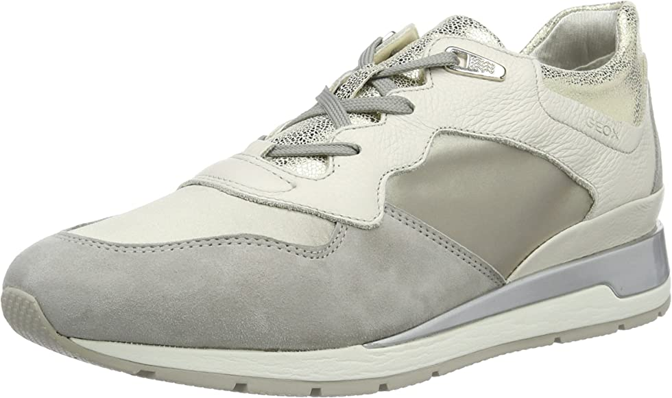 Haz lo mejor que pueda Ahora escena  Geox Women's D Shahira B Low-Top Sneakers, Grey (Off White/Lt Greyc0856), 5  UK (38 EU): Amazon.co.uk: Shoes & Bags
