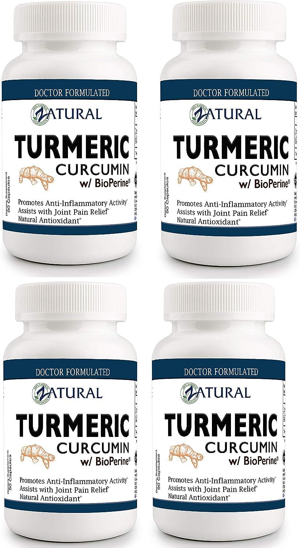 Best Turmeric Curcumin w Bioperine. UltraPure- Highest Quality Buy 3 Get One Free – 360 Count