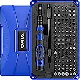 ORIA Conjunto de chave de fenda de precisão 106 em 1 com chave de fenda magnética Torx de 102 bits com estojo Ferramenta de r