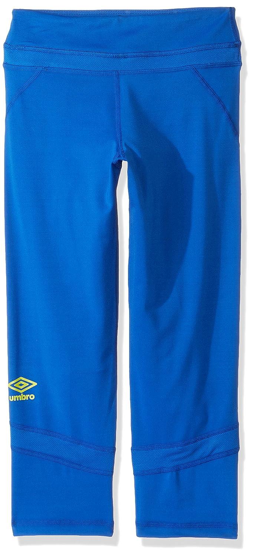 Umbro Girlsトレーニングカプリ B06XGD295J XL|Lapis Blue/Sulphus Spring Lapis Blue/Sulphus Spring XL