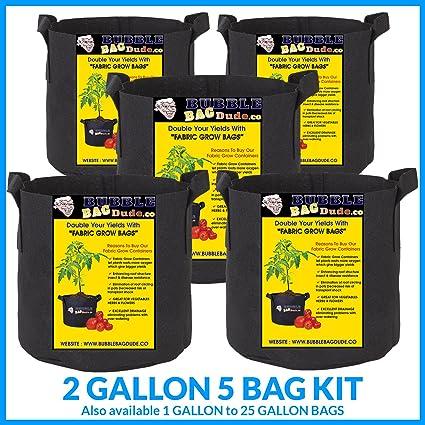 Amazon.com: BUBBLEBAGDUDE - Juego de 5 bolsas de cultivo de ...