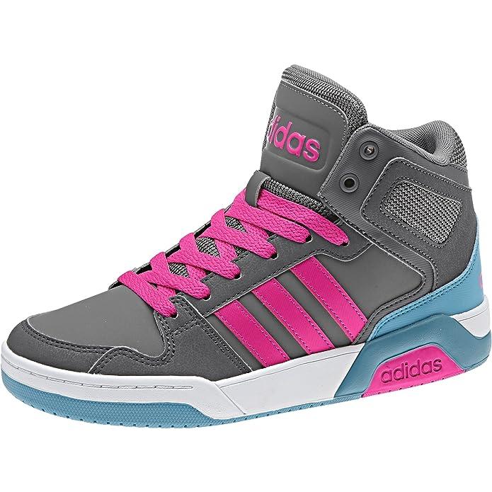 Adidas Bb9Tis Mid K, Zapatillas de Deporte Unisex Niños, Gris (Gricua/Rosimp/Gricin), 33 EU