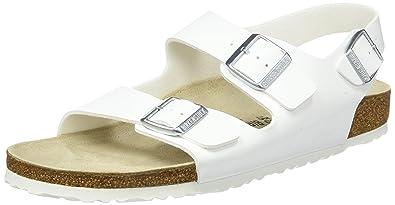 Birkenstock Classic MILANO BF, Unisex-Erwachsene Knöchelriemchen Sandalen, Weiß (WEISS), 36 EU