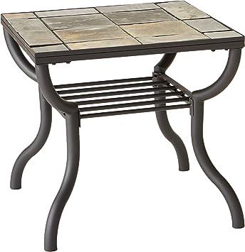 Amazon Com Signature Design By Ashley Antigo Black Square End Table Furniture Decor
