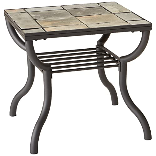 Merveilleux Ashley Furniture Signature Design   Antigo Living Room End Table   Slated  Top With Metal Bottom
