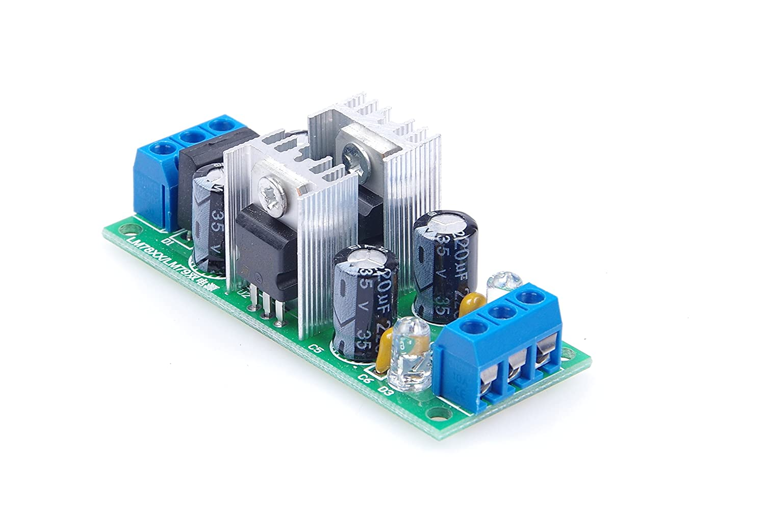 Knacro Lm7815 Lm7915 Dual Voltage Regulator Three Circuit Power Supply 15v 1a By Ic 7815 7915 Hd Walls Terminal Module With Rectifier Bridge
