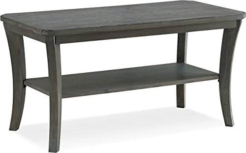 Leick Furniture Wire Brushed Driftwood Condo Apartment Coffee Table, Rustic Gray