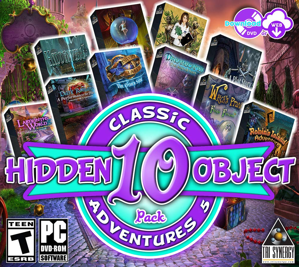 Hidden Object Classic Adventures V - 10 Great Games - Collectors Editions Included